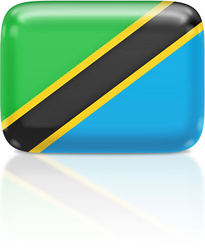 Tanzanian flag clipart rectangular