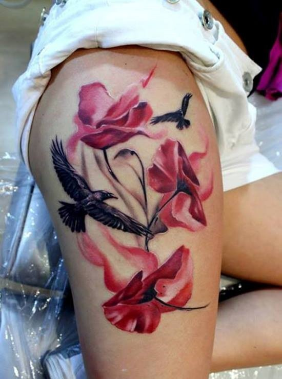 guia_bonita_e_floral_coxa_tatuagem