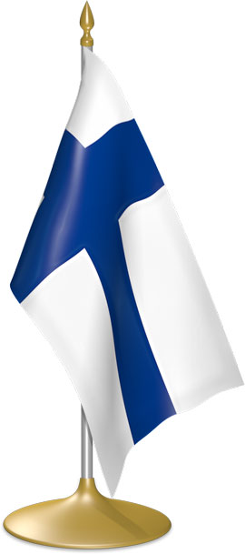 Finnish table flags - desk flags