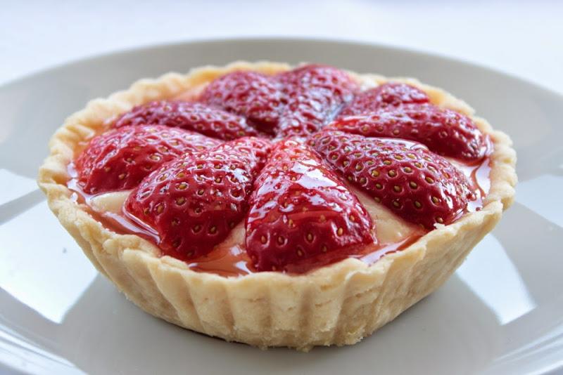 Tartaletas de fresas con crema Chiboust
