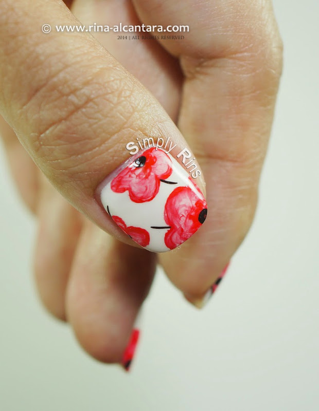 Pretty Poppies Nails