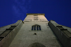 Facade of the Cathedral of Saint Martin at night