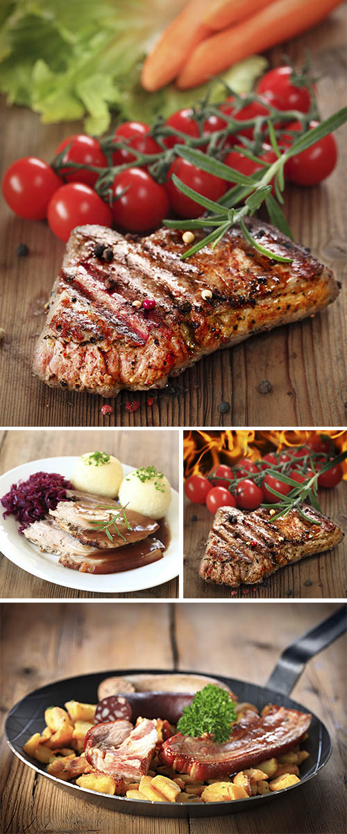 Stock Photo: Gegrilltes Steak vom Rind