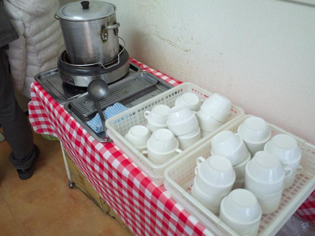 無料のスープコーナー