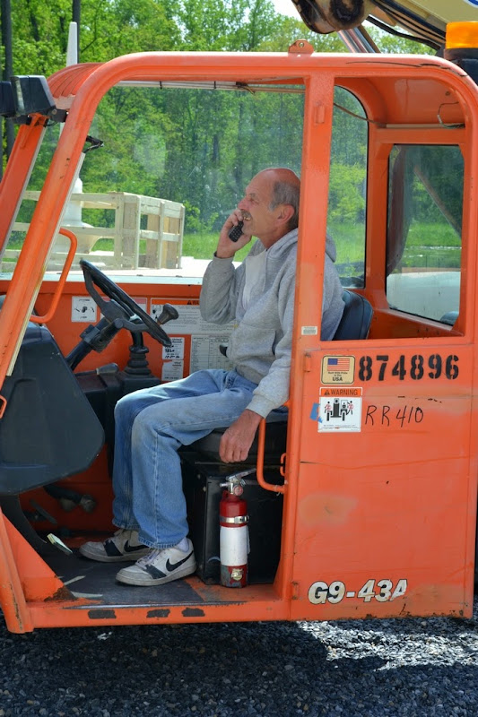 Crane operator Joe Butts