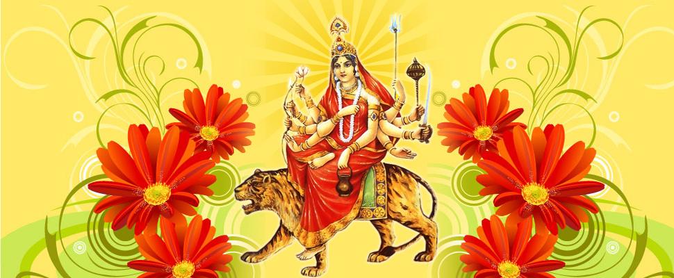 Navratri 3 Third Puja Day Goddess Maa Chandraghanta Third Avtar of Maa Durga HD Wallpapers, Images, Pictures, Photos, Vectors, Graphics, Pics, Greeting Cards