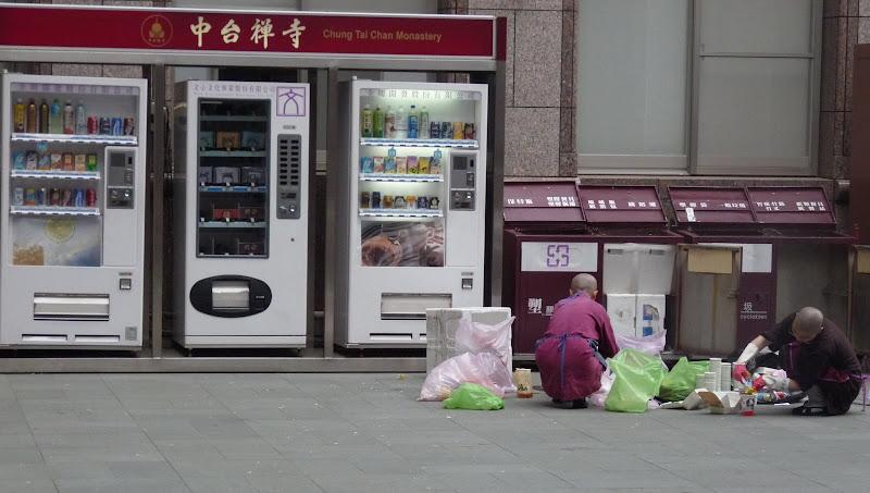 triage des poubelles par les novices