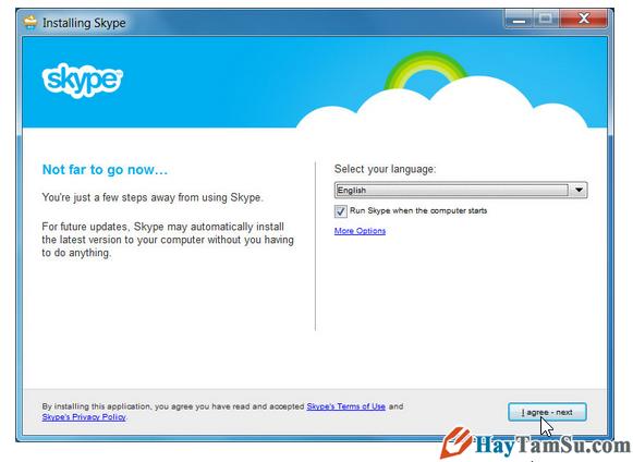 Chọn ngôn ngữ cho Skype
