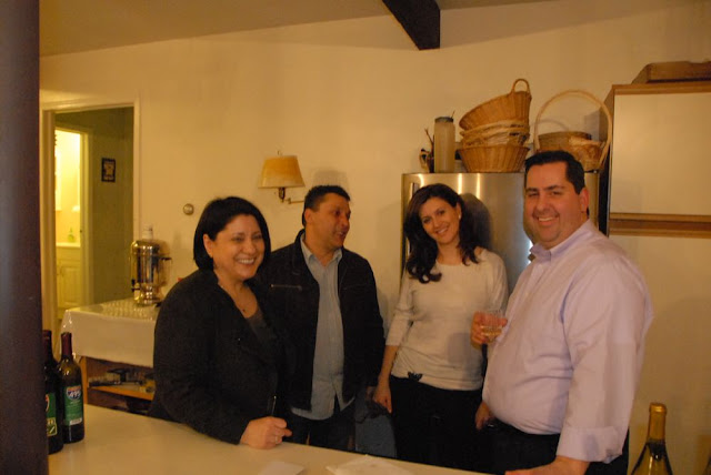 Maria, Valentin, Cristina, and Mark, relaxing after their hard work organizing the event