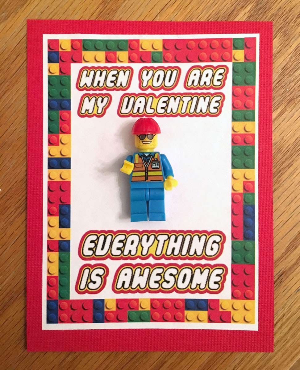 Everything is awesome lego valentine
