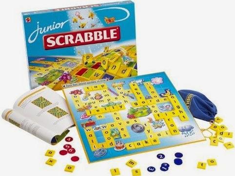 Trò chơi Xếp chữ tiếng Anh Junior Scrabble Mattel 51319