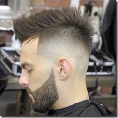 Mens medium fade spiked haircut