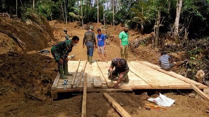 Kualitas Paling Utama dalam Penyelesaian Pembangunan Jembatan Kelima Jalan Baru, TMMD Kodim Tapsel