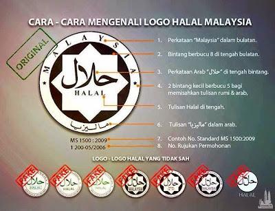 Tanda logo HALAL yang sah!