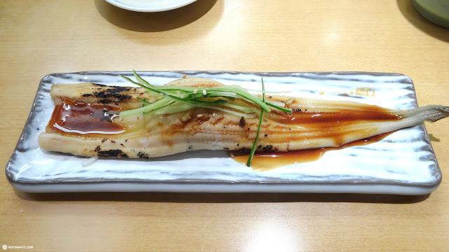 giant unagi eel at sushi zanmai in Roppongi in Tokyo, Tokyo, Japan