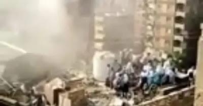 حريق بمعهد صقر قريش والتلاميذ تهرب إلى السطح | بالفيديو