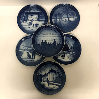 Royal Copenhagen Commemorative Plate Lot of 6