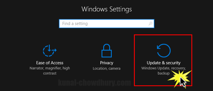 Windows 10 - Updates and Security Settings (www.kunal-chowdhury.com)