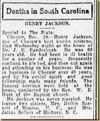 Henry Jackson Obituary