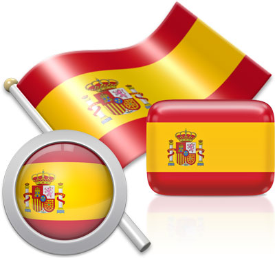 Spanish flag icons pictures collection