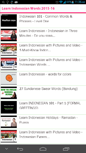 Learn Indonesian Words 2015