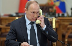 Vladimir Putin telephone conversation with Alexis Tsipras.