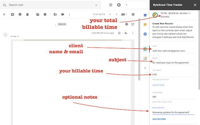 ByteScout Time Tracker for Gmail - G Suite Marketplace