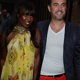 WWW.ENTSIMAGES.COM -     Michelle Gayle  and Nick Edearriving at BMW i3 Global Reveal and Party at Old Billingsgate, 1 Old Billingsgate Walk, London July 29th 2013                                                 Photo Mobis Photos/OIC 0203 174 1069