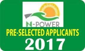 N-Power 2017/2018 List Of Successful Candidates (First Batch) is Out