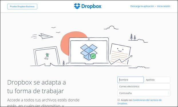 Abrir mi cuentra Dropbox - Iniciar sesión