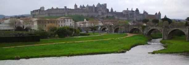 Festungsstadt Carcassonne, Südwest-Frankreich