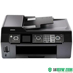 How to reset flashing lights for Epson WorkForce 500 printer