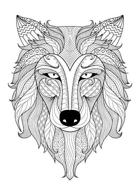 Simple Coloring Incredible Wolf By Bimdeedee At Animal Coloring Pages