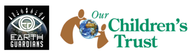 Logos for Earth Guardians and Our Children's Trust. Graphic: Earth Guardians / Our Children's Trust