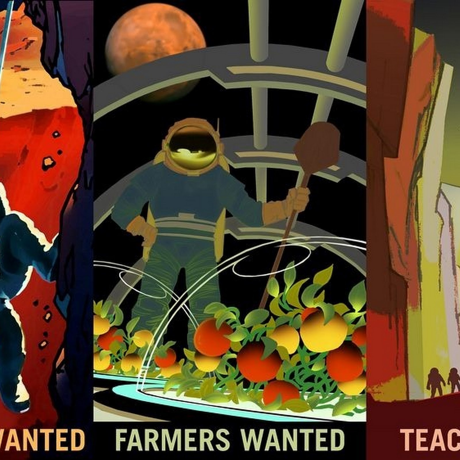 NASA's Mars Explorers Recruitment Posters