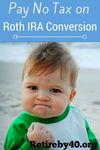 Pay No Tax on Roth IRA conversion