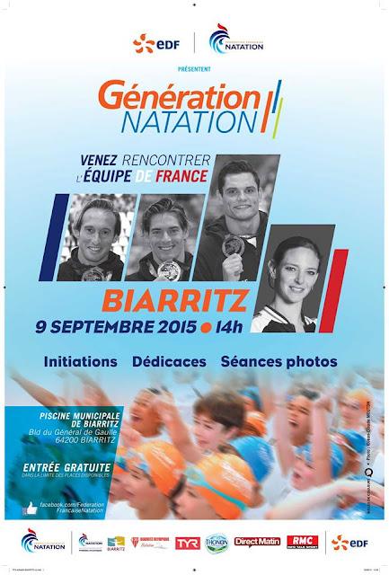 Venez rencontrer l quipe de france de natation la for Piscine municipale biarritz