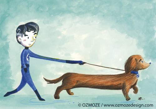 Mister Fantastic and dog_Fantastic Four