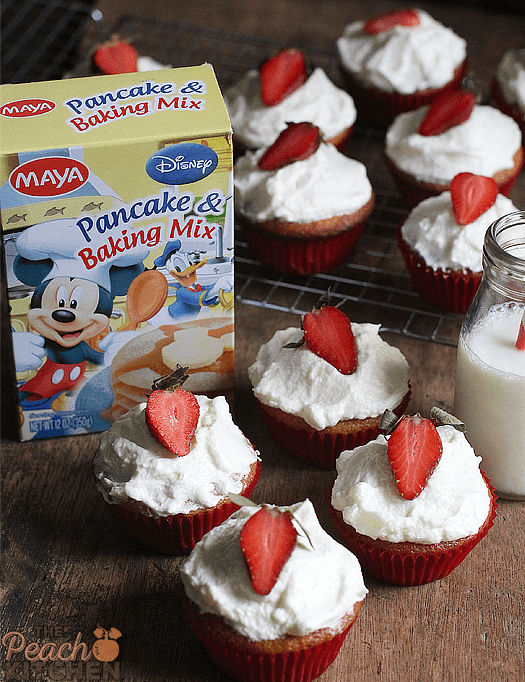Maya Strawberry Cupcakes with Easy Vanilla Buttercream