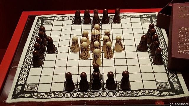 Hnefatafl, a Scandinavia game depicting a chieftain and his bodyguards.