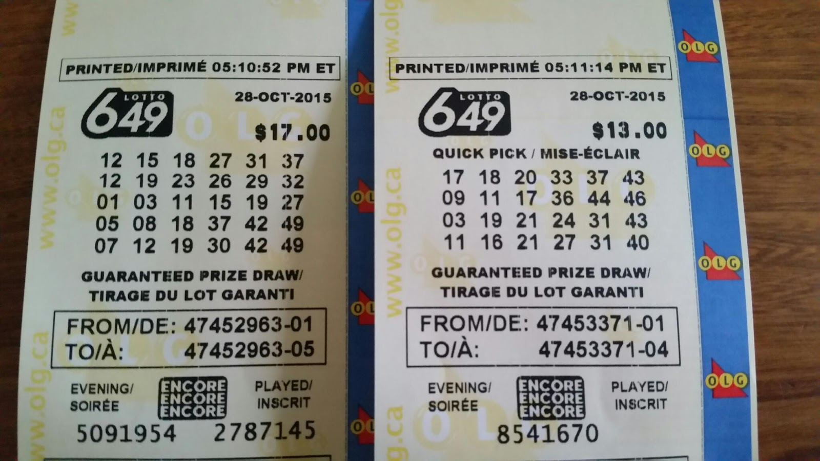 lotto 649 dec 27 2017