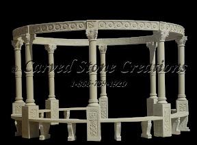 carved stone, Column, Exterior, Gallery, Gazebo, Gazebos, Landscape Decor