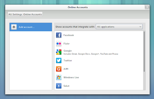 GNOMEbuntu 12.10 Online Accounts