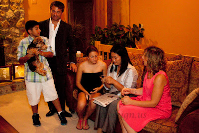 Woodcliff Lake  NJ  candidate for president of Peru having dinner.   Keiko Fujimori, the daughter of Peru's former president Alberto Fujimori. Owner of house Leon Temiz, owner of Electronics Expo7/23/2010 Photos by TOM HART/  FREELANCE PHOTOGRAPHER