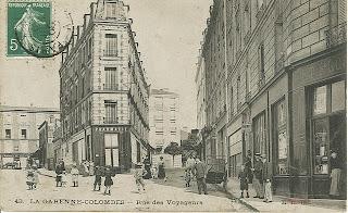 2 - A gauche la rue de l'Arrivée, à droite la rue Emile Del Sol, anciennement rue des Voyageurs - La Garenne Colombes - carte postale ancienne - cpa