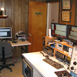V/UHF FM station (left) and CW & SSB HF station (right)