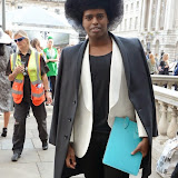 WWW.ENTSIMAGES.COM -     PRINCE CASSIUS at    LFW - Somerset House Courtyard September 13th 2014                                               Photo Mobis Photos/OIC 0203 174 1069