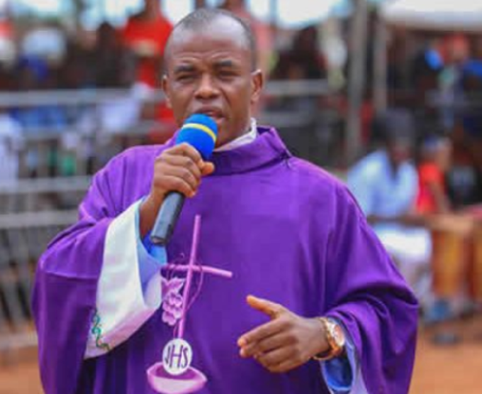 Fr Mbaka Reportedly Missing As Church Members Protest (Video)