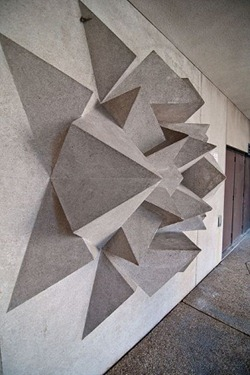 Concrete wall sculpture