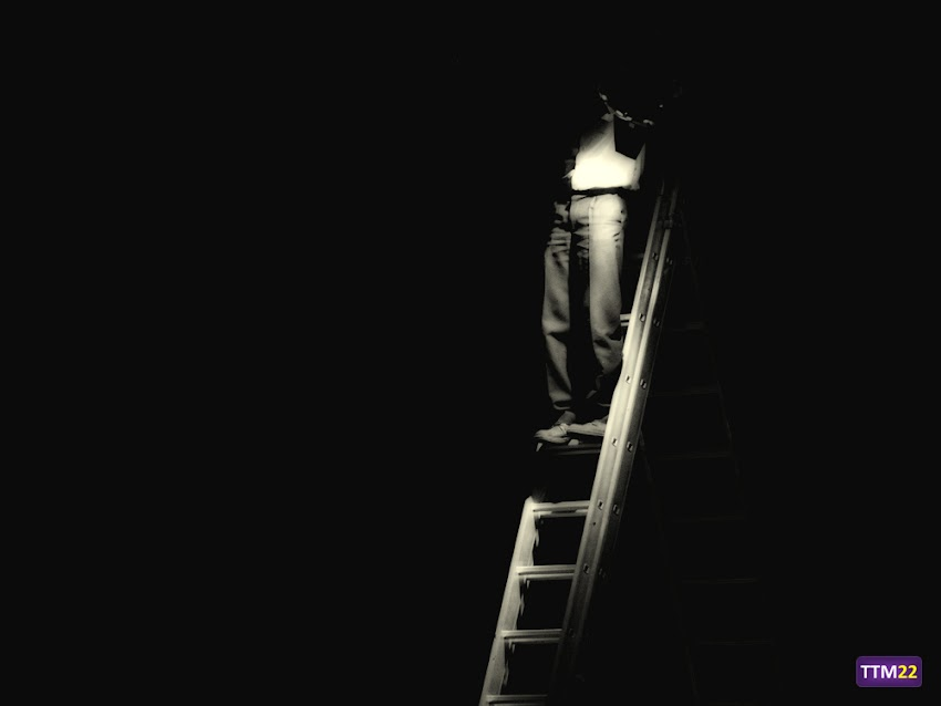 Nikon D5100, 55-200 mm, Curiosas, Blanco y negro, Escalera, Anonymous, Hombre